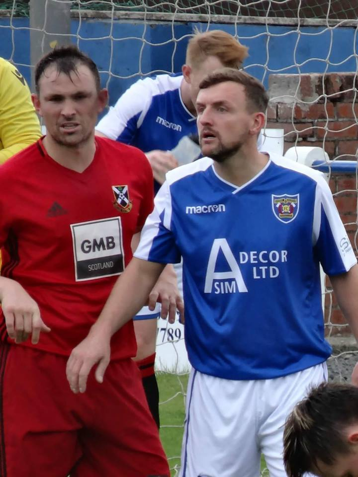 New Irvine Meadow signing James Latta is pictured (right) in action against Pollok. Picture: Gordon McCreath.