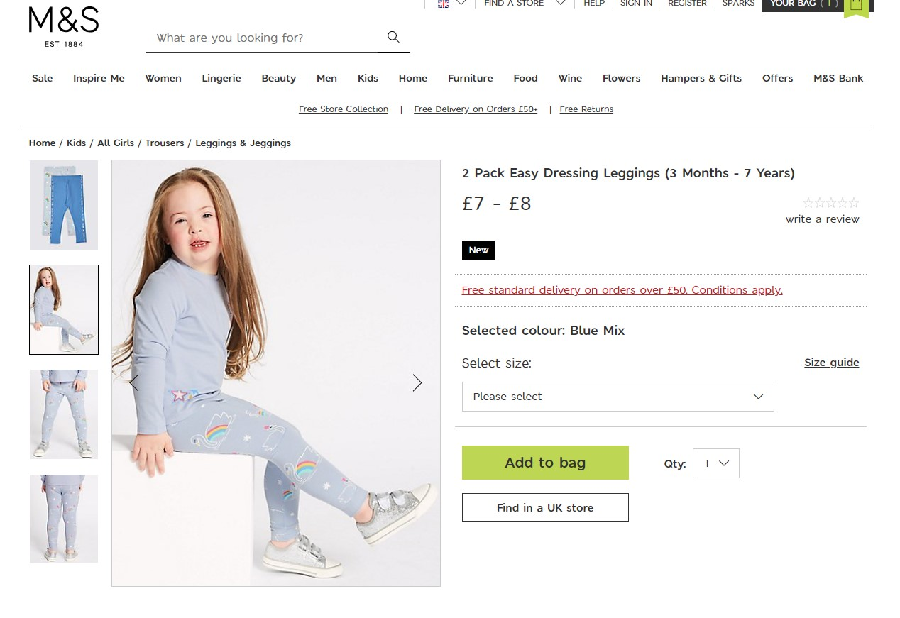 Wee Chloe models for Marks and Spencer