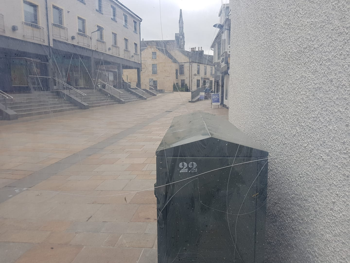 Disappointment after Kilwinning town noticeboard vandalised