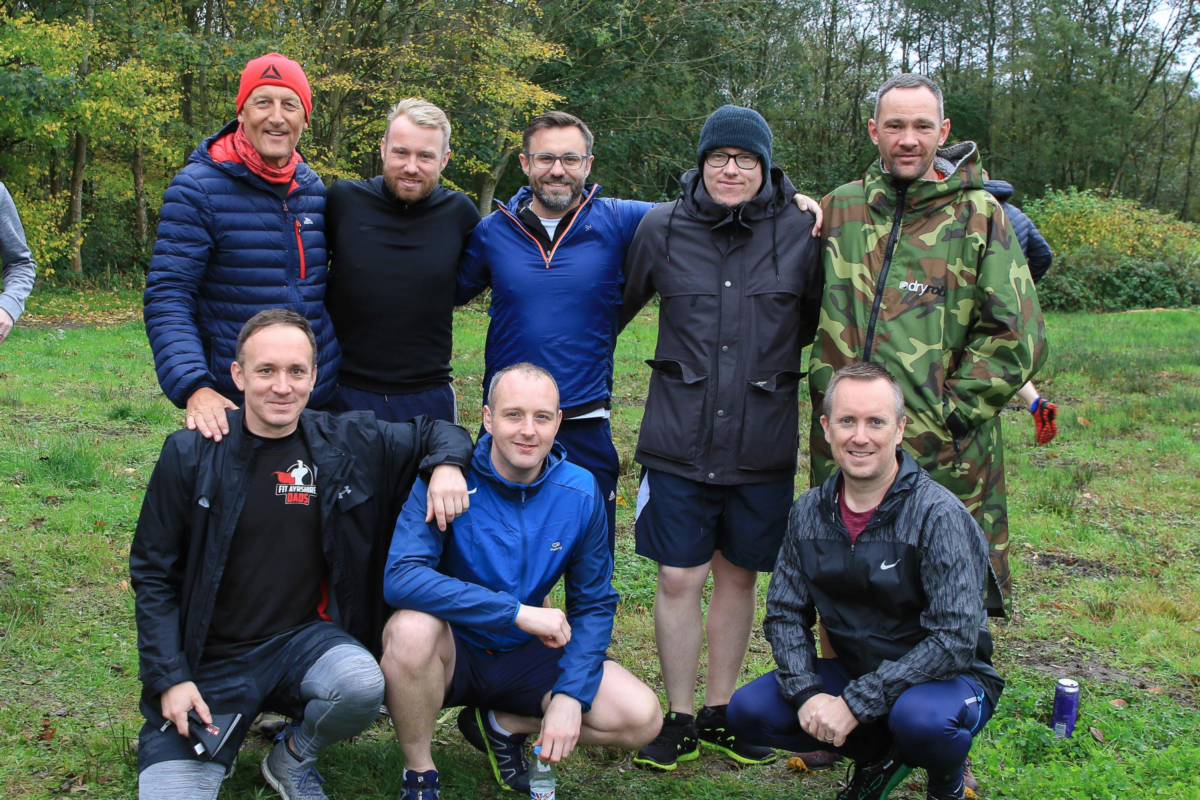 Fit Ayrshire Dads put their best feet forward for relay race