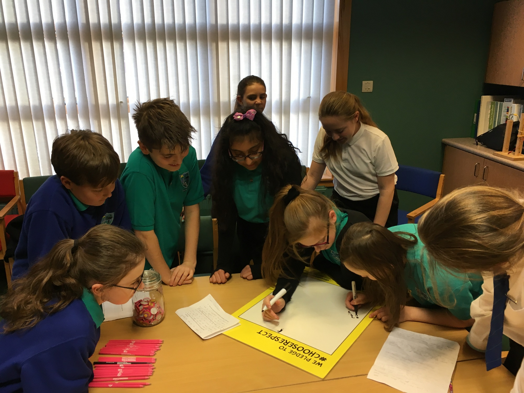 Lawthorn pupils sign anti-bullying pledge