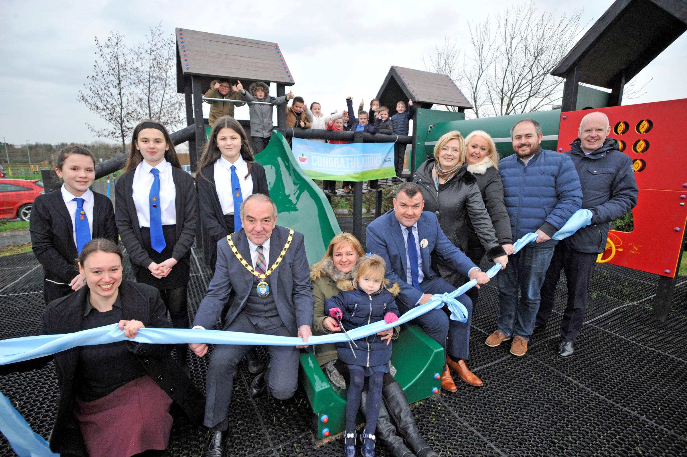 Castlepark Primary celebrate new eco playground opening