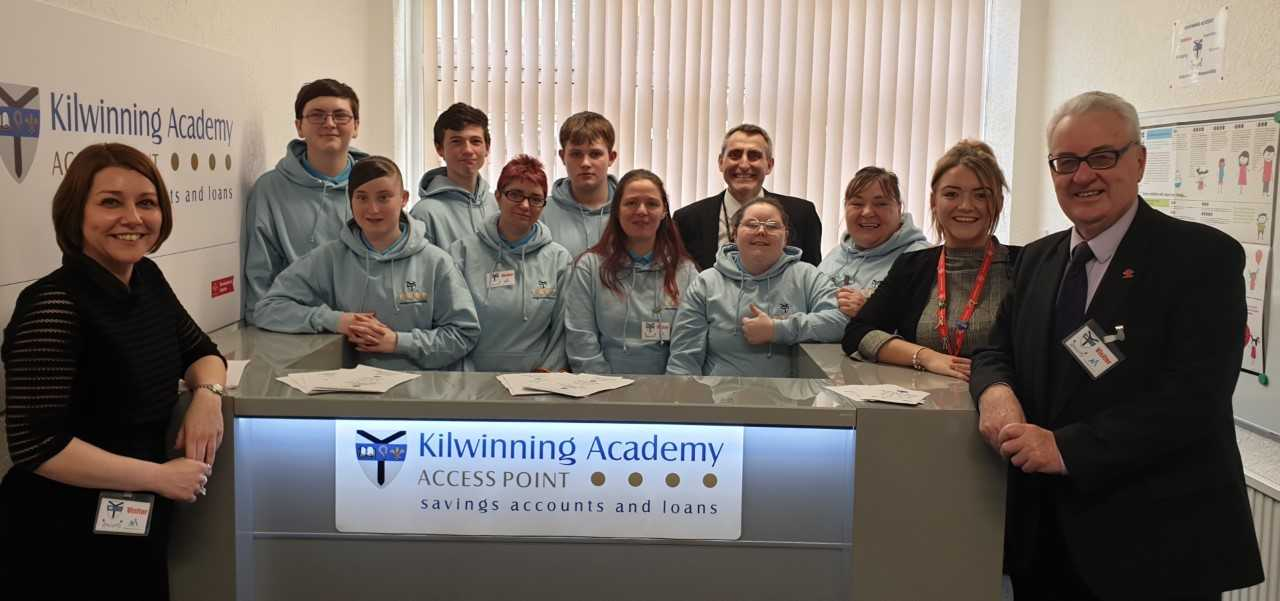 Kilwinning Academy praised in parliament after credit union launch