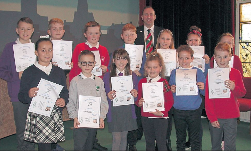 Talented Irvine youngsters receive Burns certificates