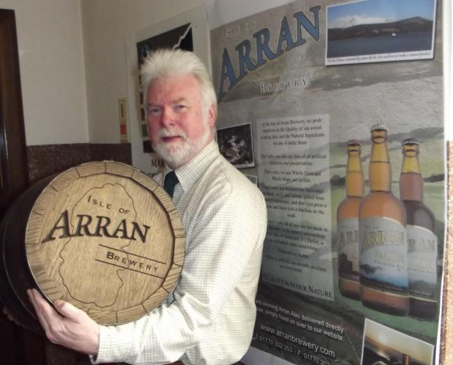 Gerald Michaluk, managing director of Arran Brewery.