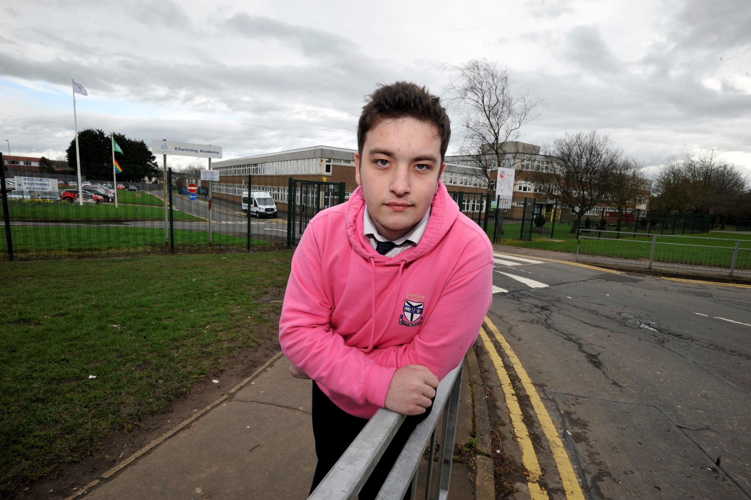 Kilwinning Academy pupil blasts council after 'gay rights' online search blocked