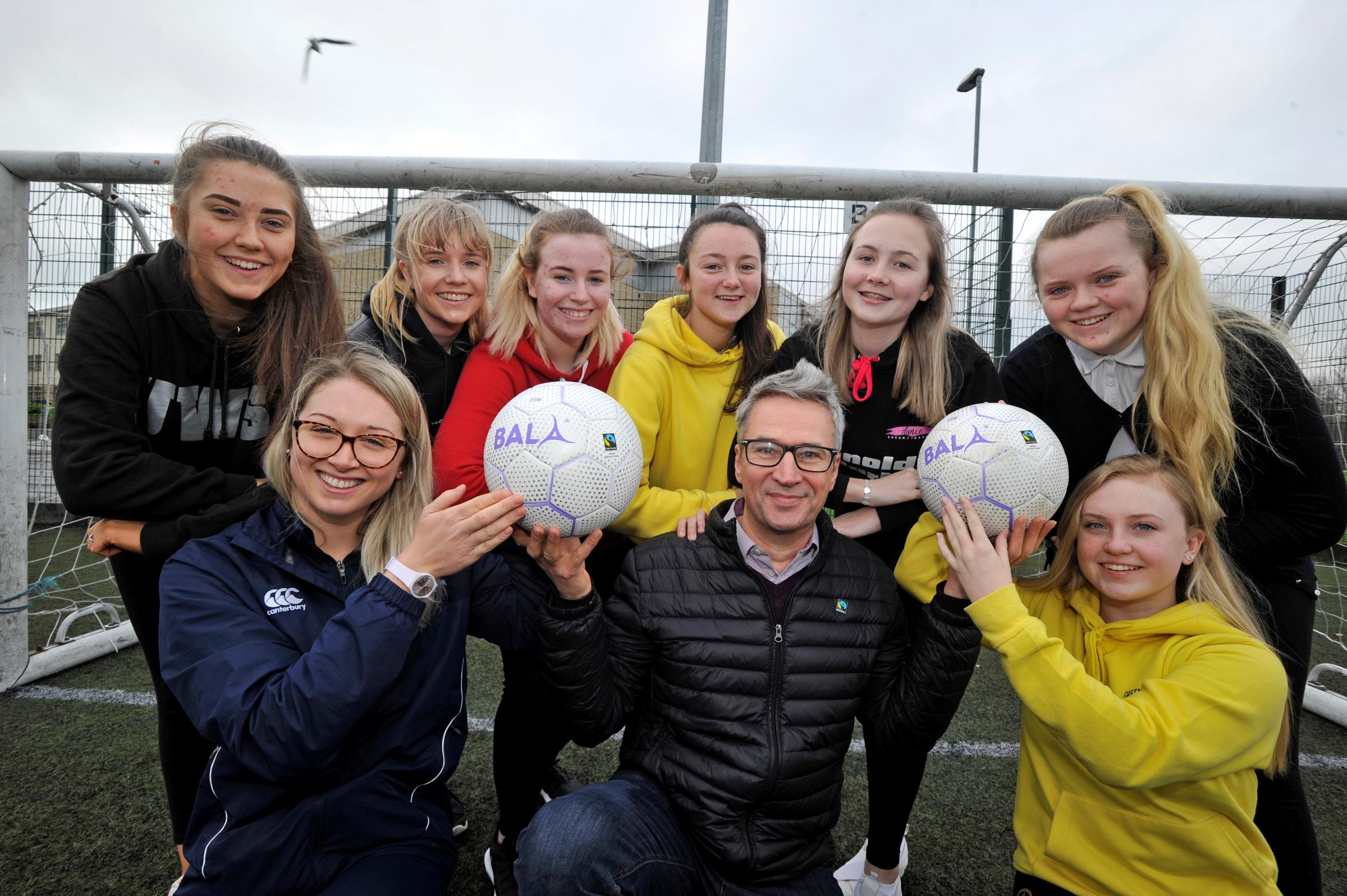 Greenwood pupils invest in fairtrade footballs