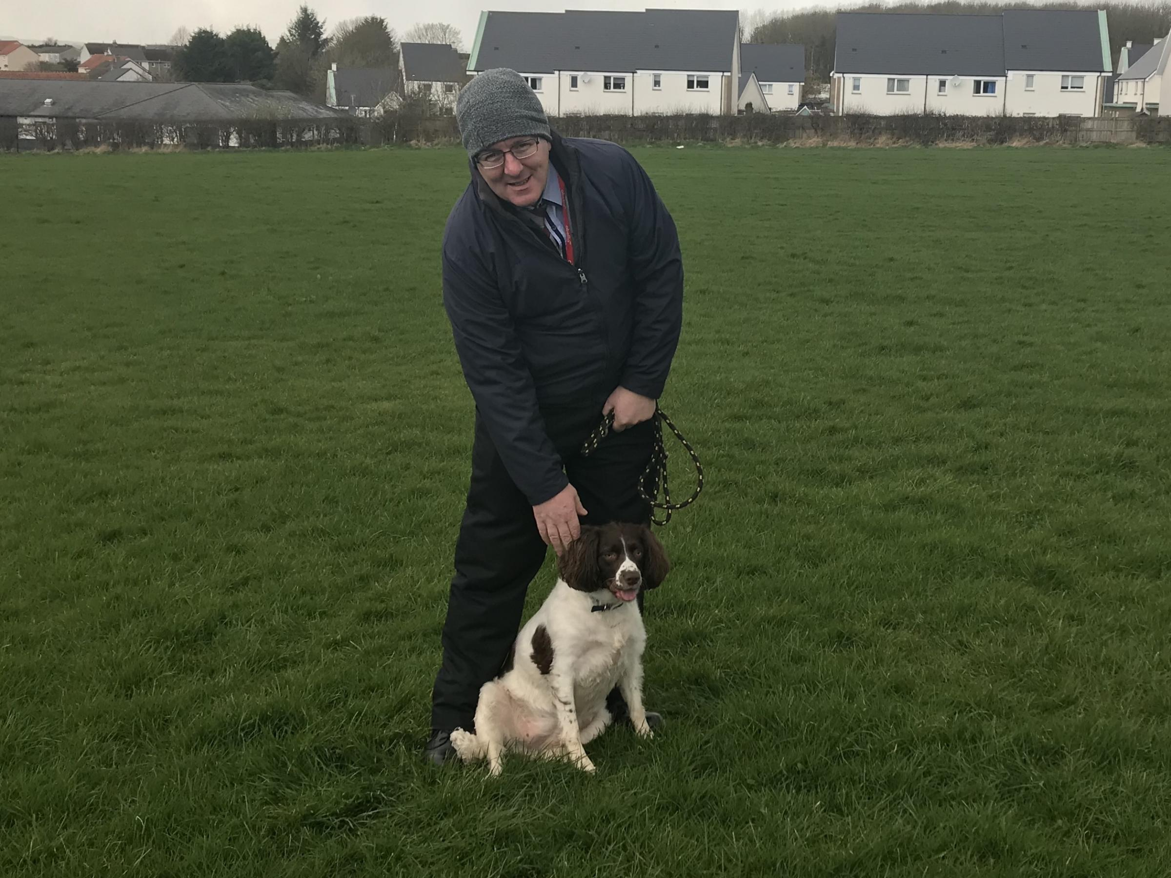 Councillor Donald Reid is consulting on a dog lead free zone in Kilwinning