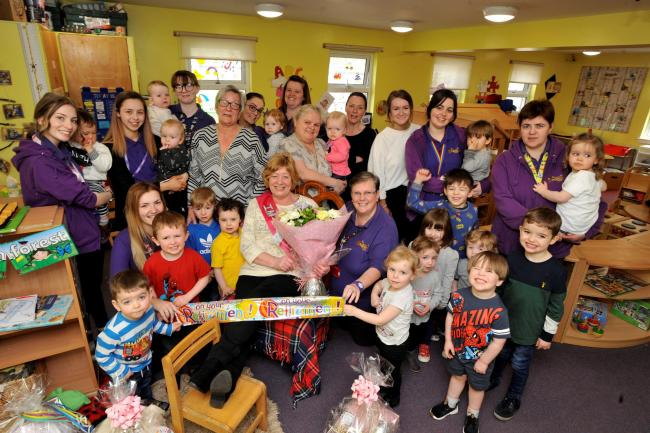 Irvine nursery cook retires after near eleven years