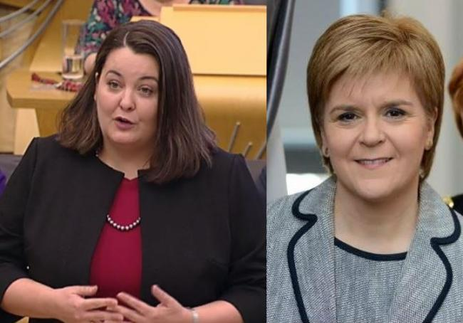 Ruth Maguire MSP and First Minister Nicola Sturgeon