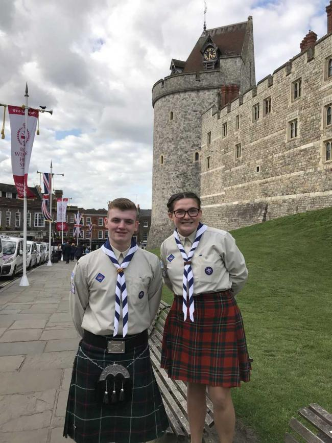 Kilwinning pair travel to Windsor Castle for highest scouting award