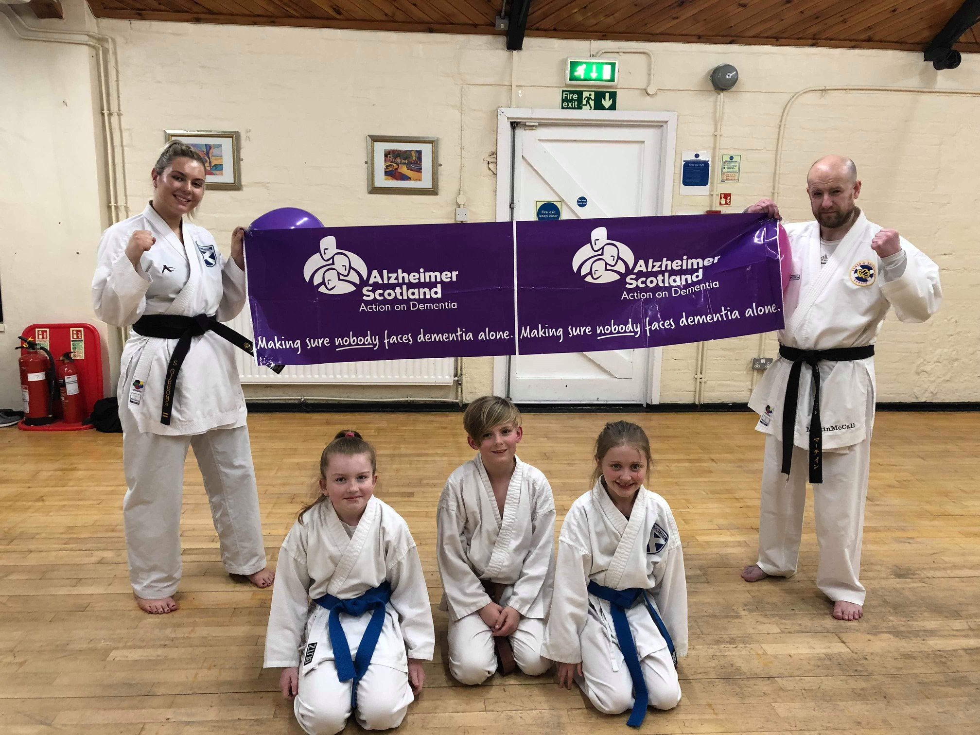 Big-hearted karate kids raise money for Alzheimer's charity