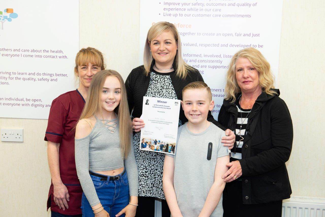 Kilwinning nurse awarded for outstanding compassionate care