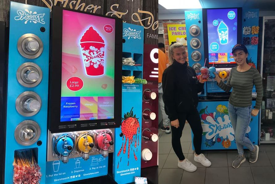 Irvine's first Sqwishee machine arrives in Bourtreehill Supermarket