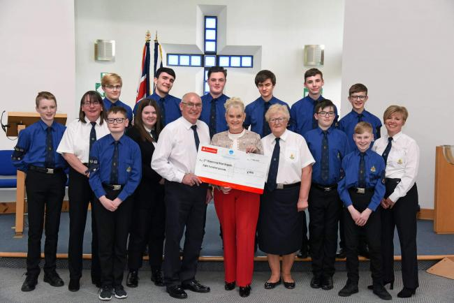 Generous £800 funding boost for 2nd Kilwinning Boys Brigade group