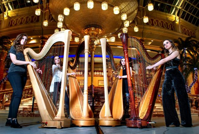 World class harp quartet to perform in Irvine's Townhouse
