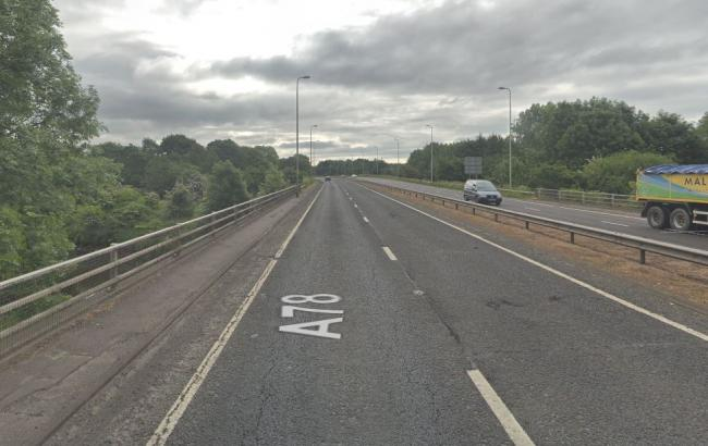 Overnight road closures on southbound section of A78 next week