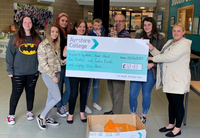 Kilwinning students donate more than £200 for foodbank